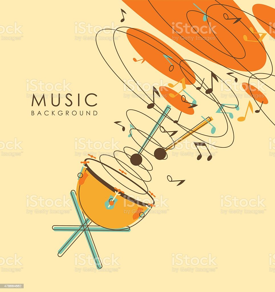 Vintage abstract musical background vector art illustration