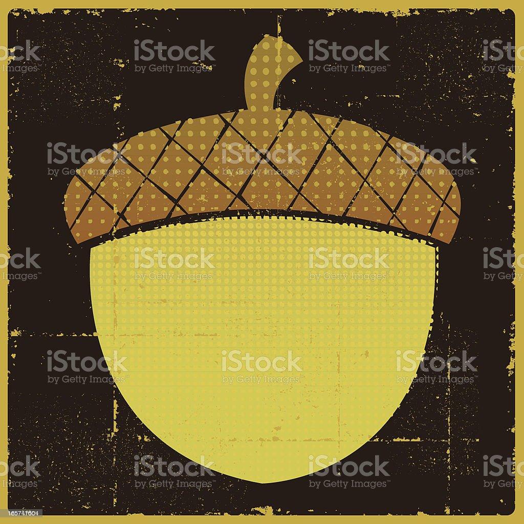 Vintage Acorn Banner royalty-free stock vector art