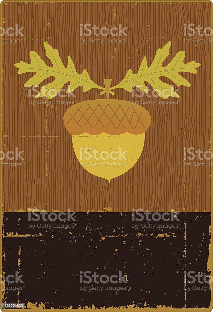 Vintage Acorn Sign royalty-free stock vector art