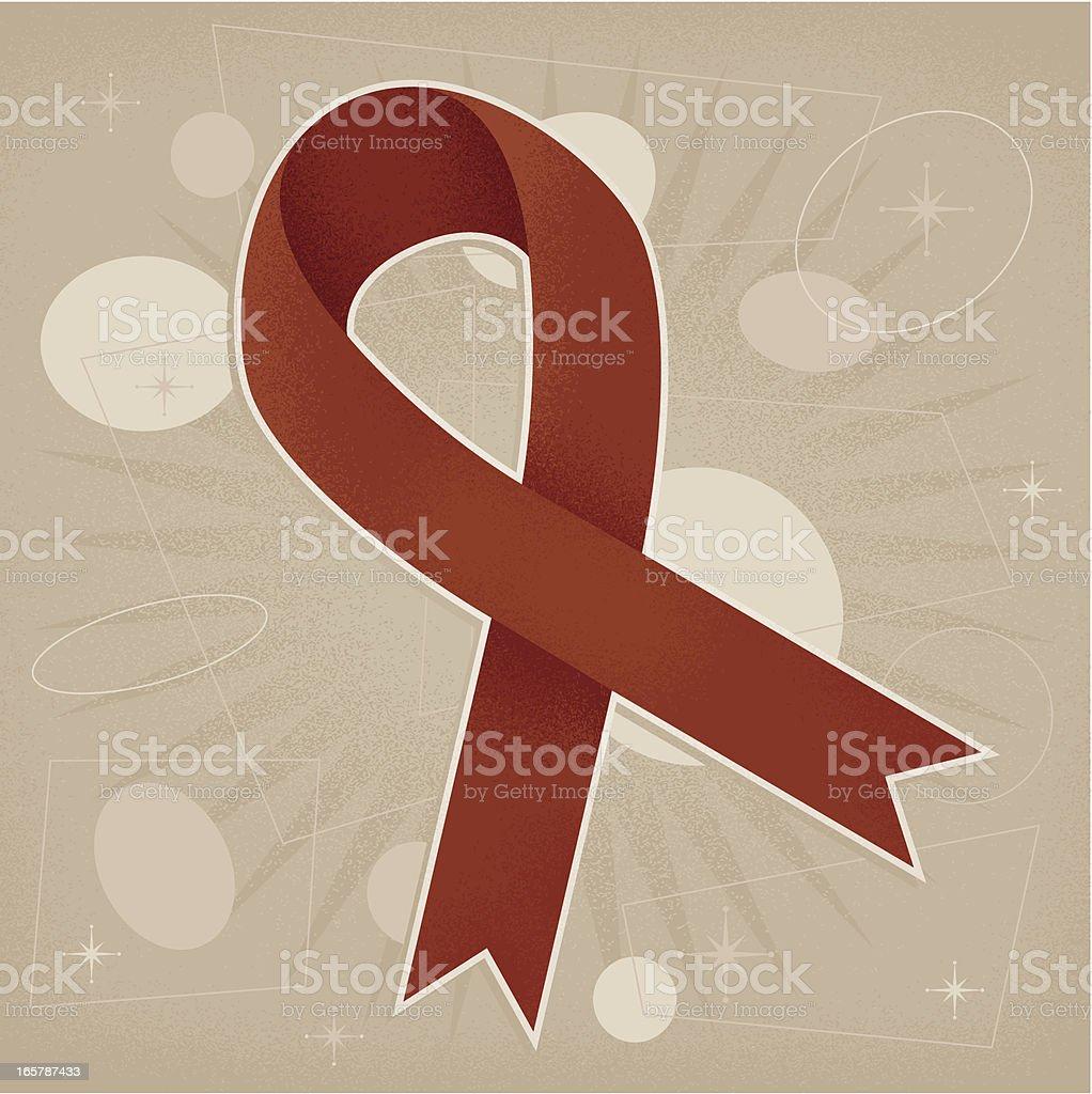 Vintage Aids Awareness Ribbon royalty-free stock vector art