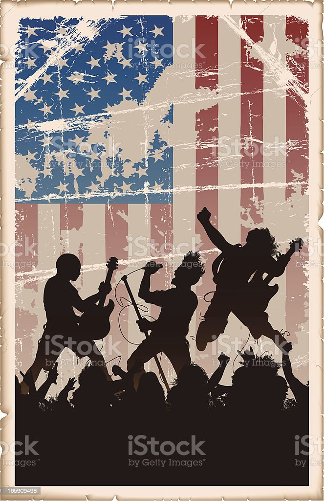 Vintage American Rock Poster vector art illustration