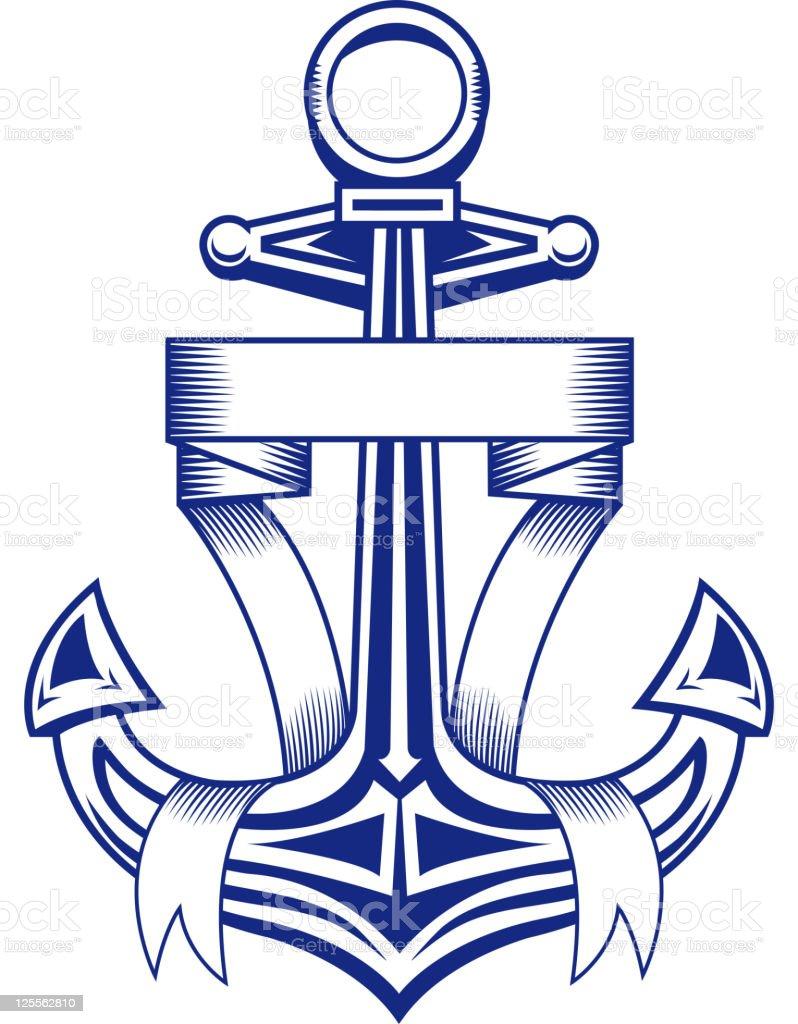 Vintage anchor royalty-free stock vector art