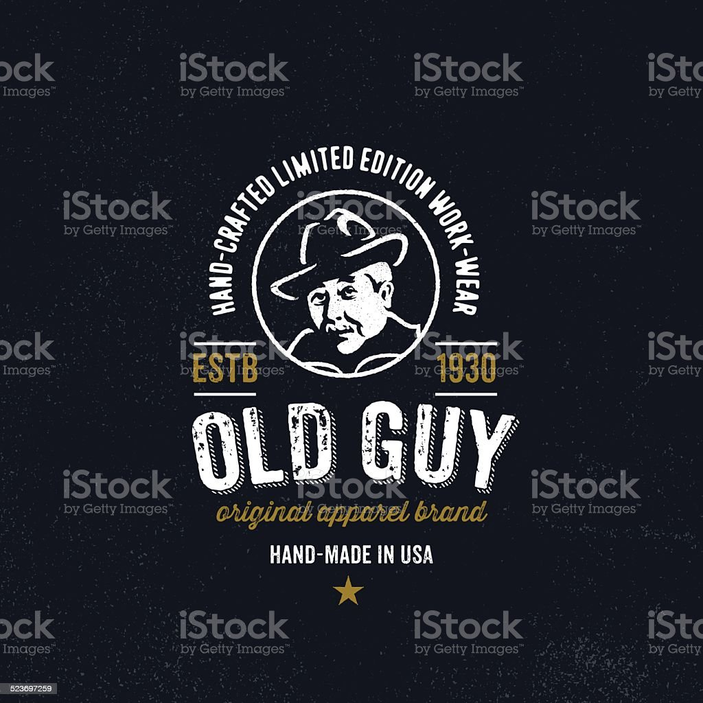 Vintage apparel design for clothing company vector art illustration