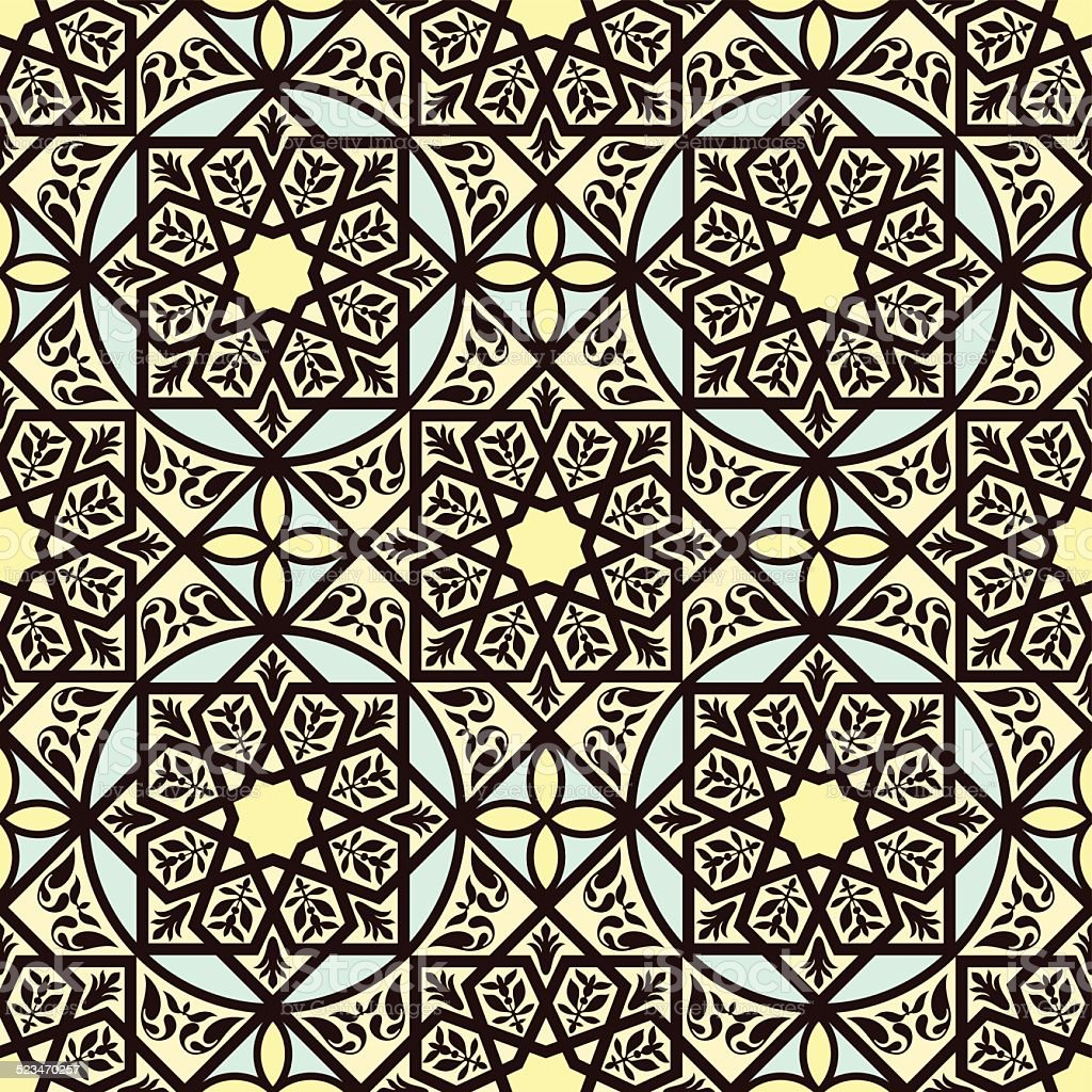 Vintage arabic and islamic background, ethnic style vector art illustration