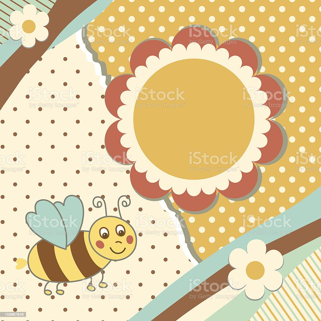 Vintage baby card royalty-free stock vector art