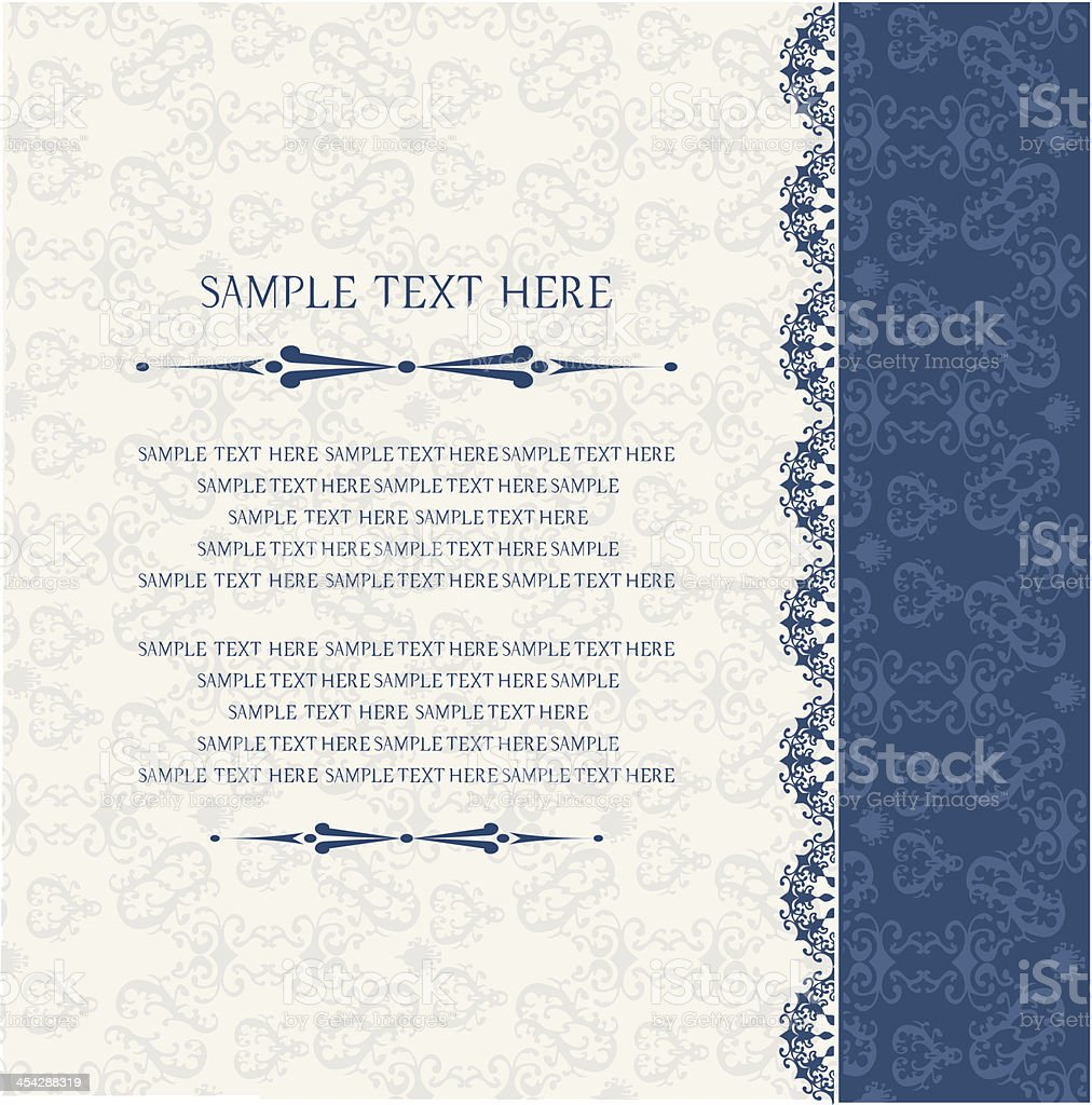 Vintage background, invitation and greeting card royalty-free stock vector art