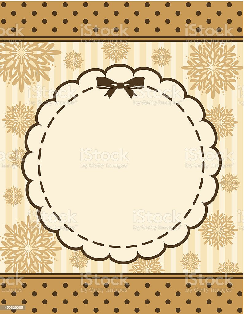 Vintage background. Vector royalty-free stock vector art