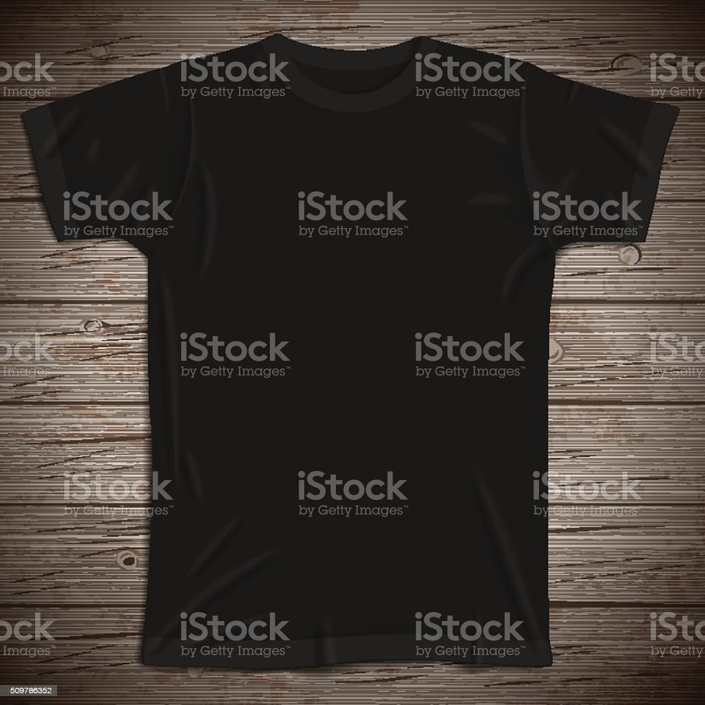 Vintage background with blank t-shirt vector art illustration