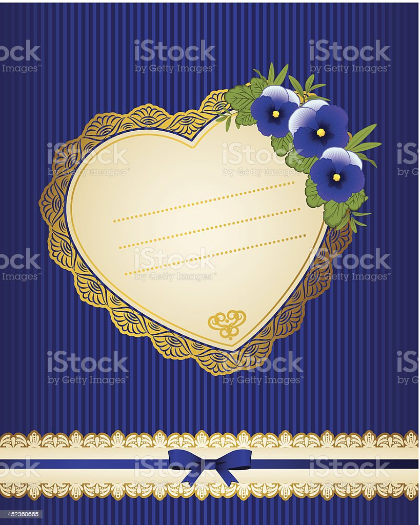 Vintage background with flowers and ornaments. Vector royalty-free stock vector art