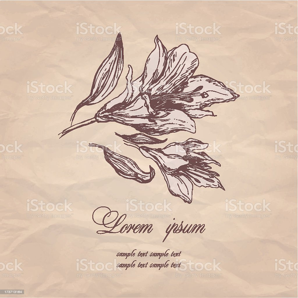 vintage background with flowers royalty-free stock vector art