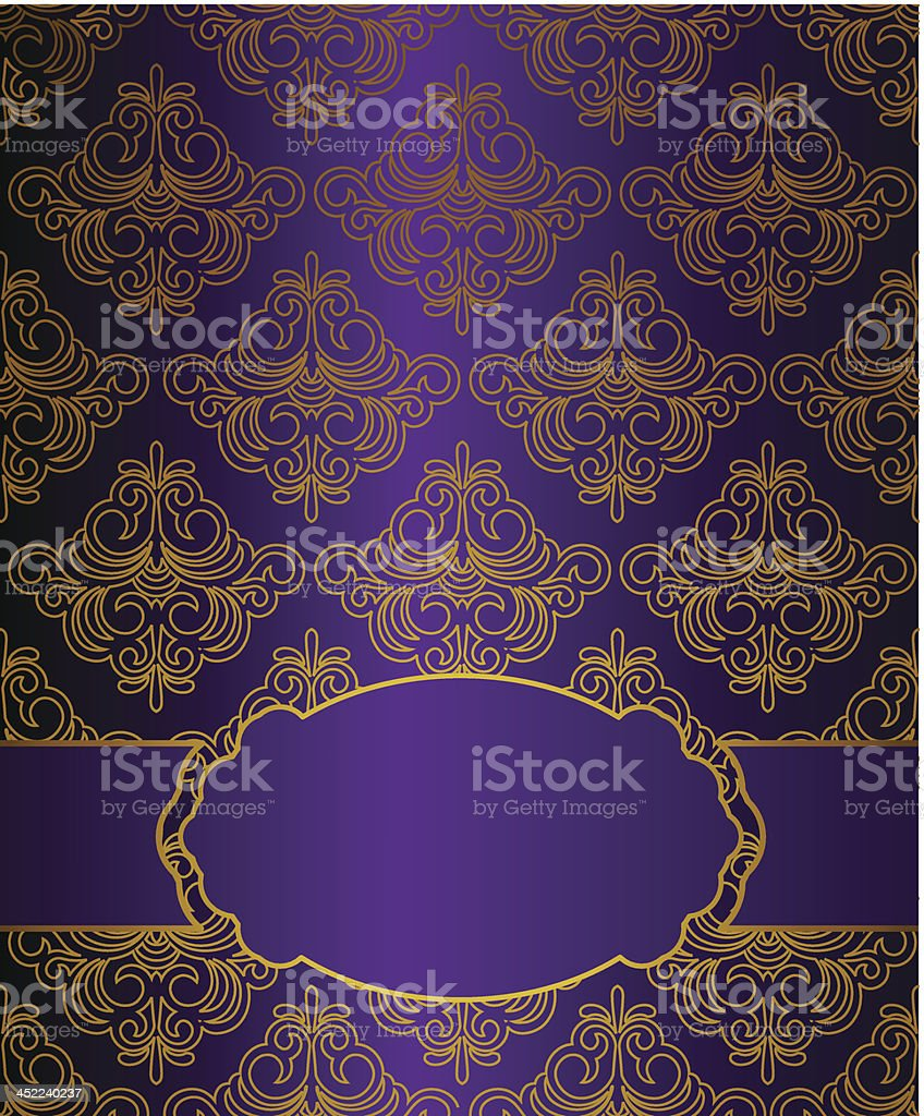 Vintage background with lace ornaments. Vector royalty-free stock vector art