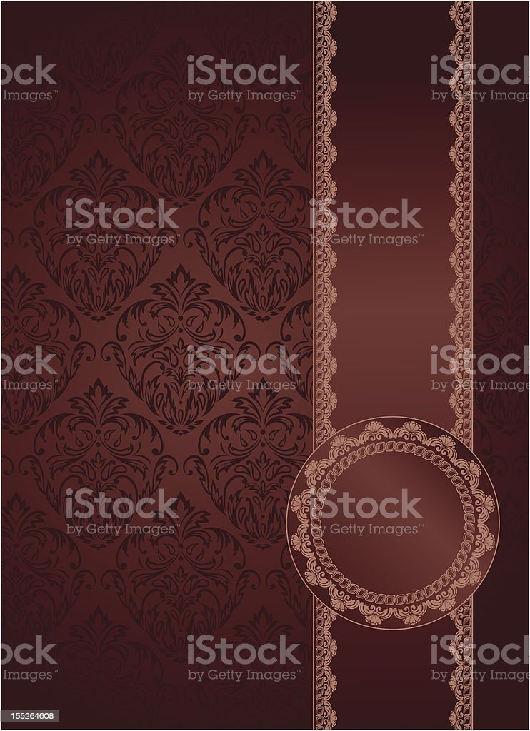 vintage background with lacy elements royalty-free stock vector art