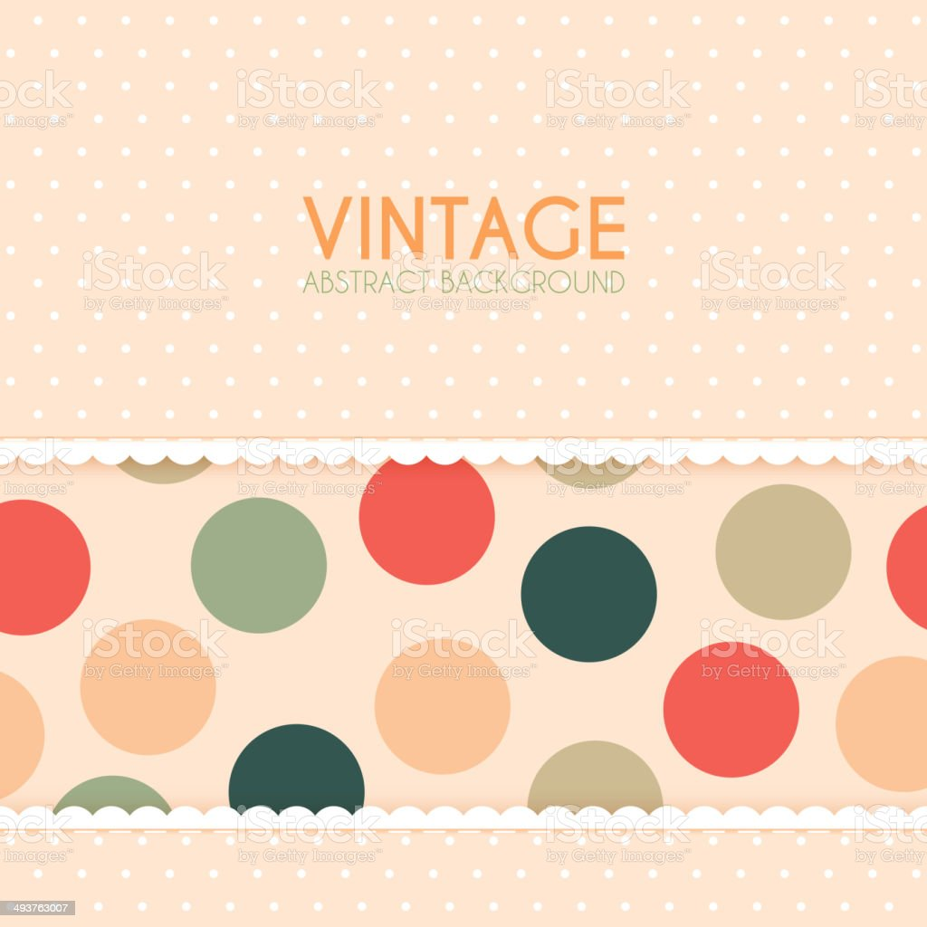Vintage Background with Polka Dots Pattern royalty-free stock vector art