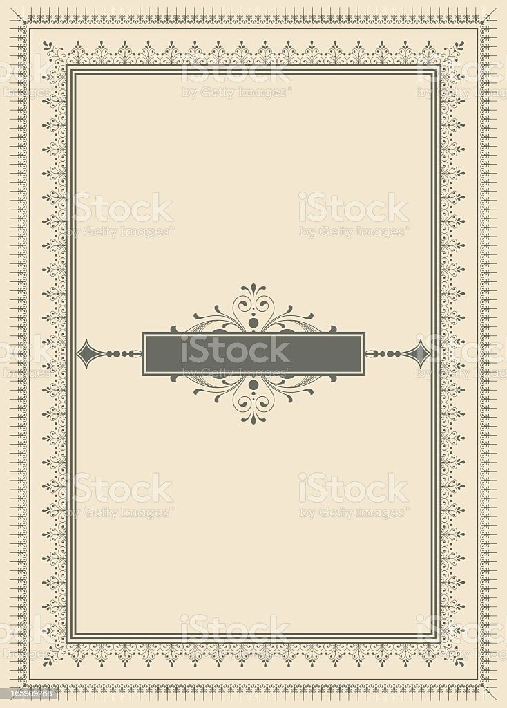 Vintage background with scallop edge design vector art illustration