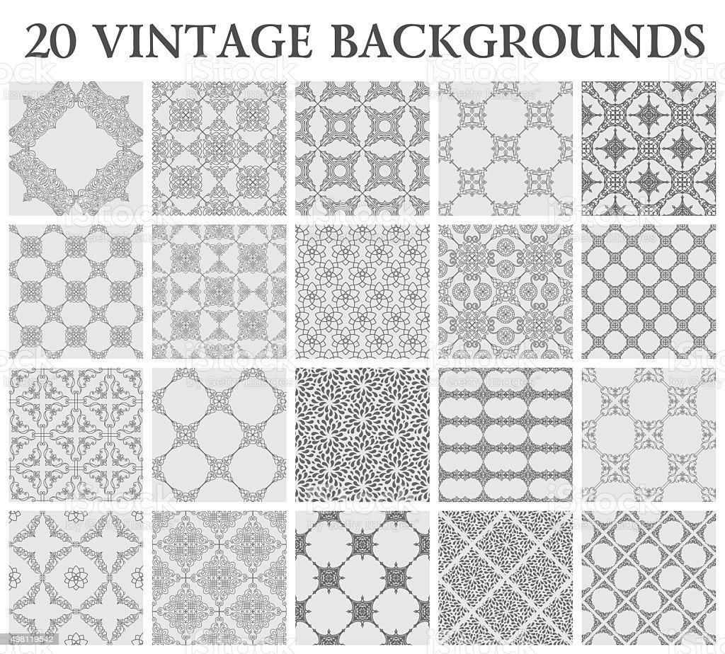 Vintage backgrounds. Seamless pattern ornament vector art illustration