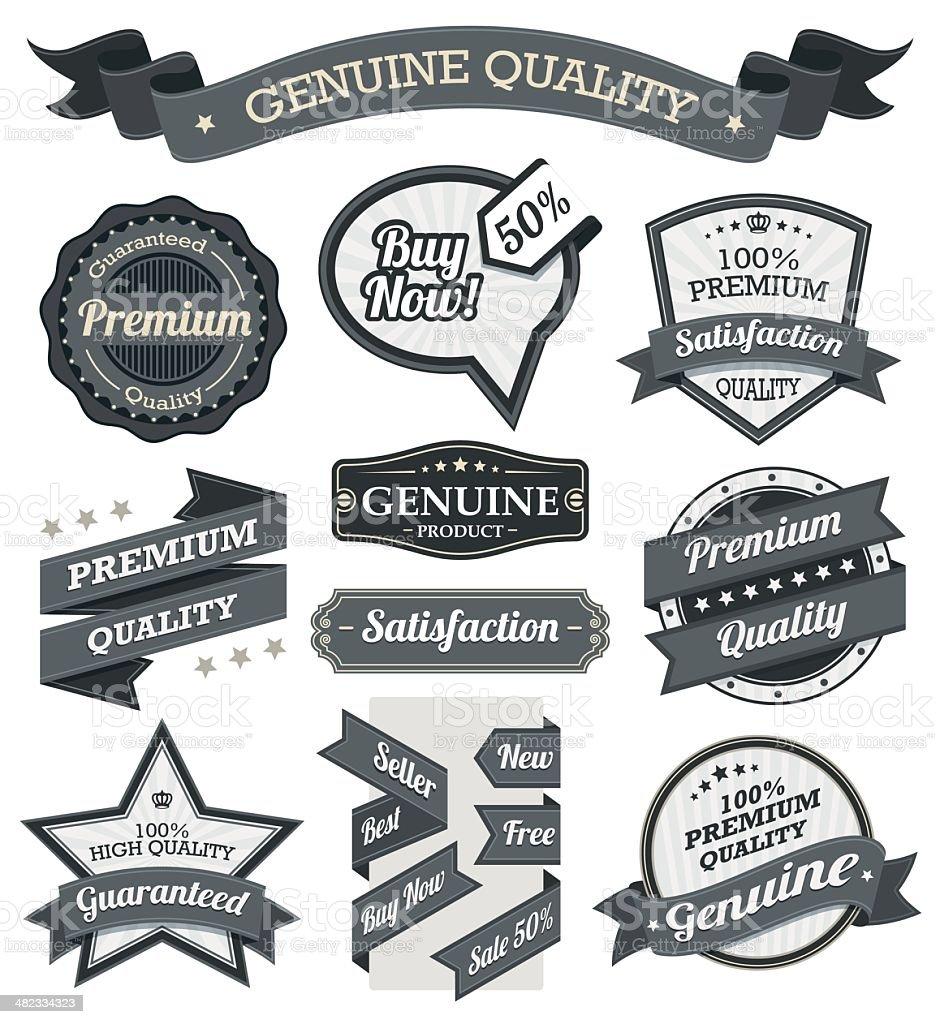 Vintage Badge and Label Set vector art illustration