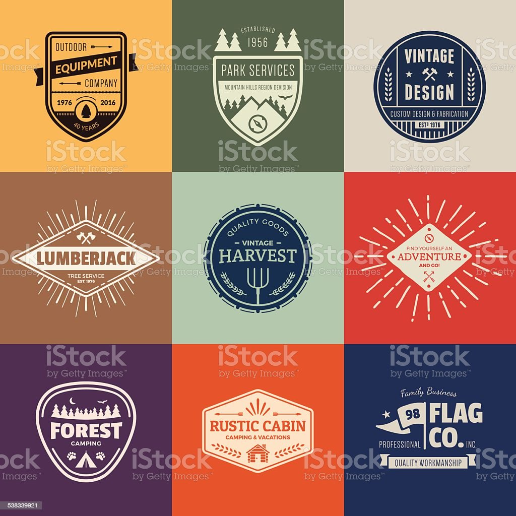 Vintage badge graphics vector art illustration