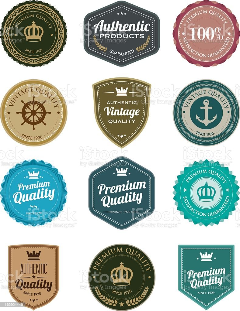 Vintage badges vector art illustration