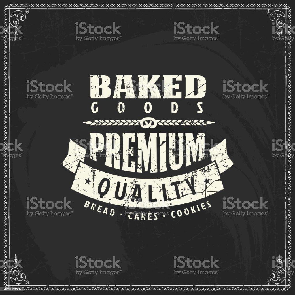Vintage bakery label royalty-free stock vector art
