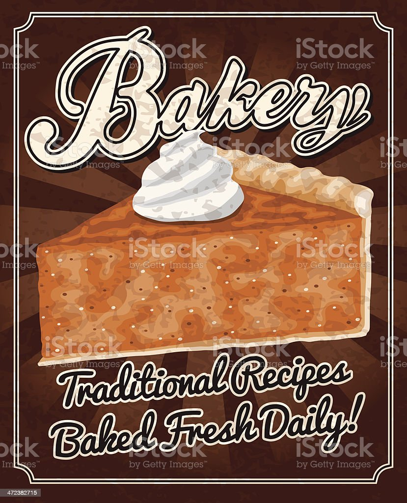 Vintage Bakery Poster vector art illustration