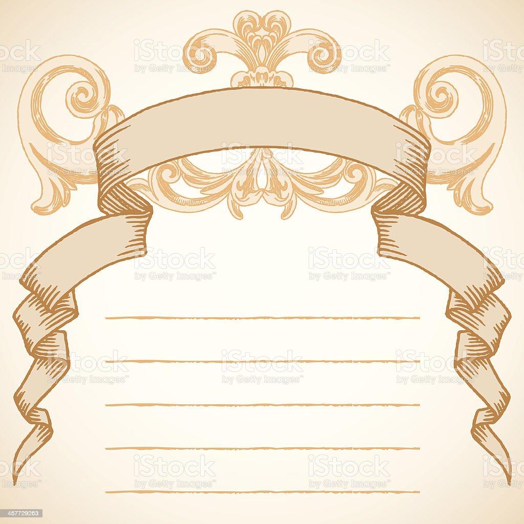 Vintage Banner royalty-free stock vector art