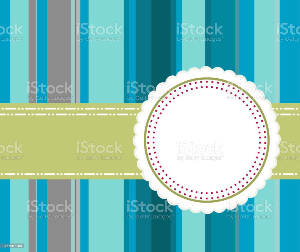 vintage banner with blue stripe background royalty-free stock vector art