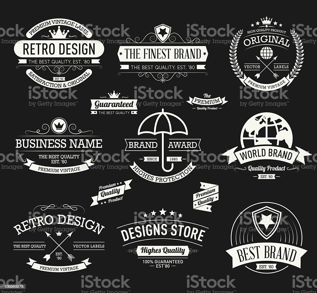 Vintage banners and frames hand drawn vector set vector art illustration