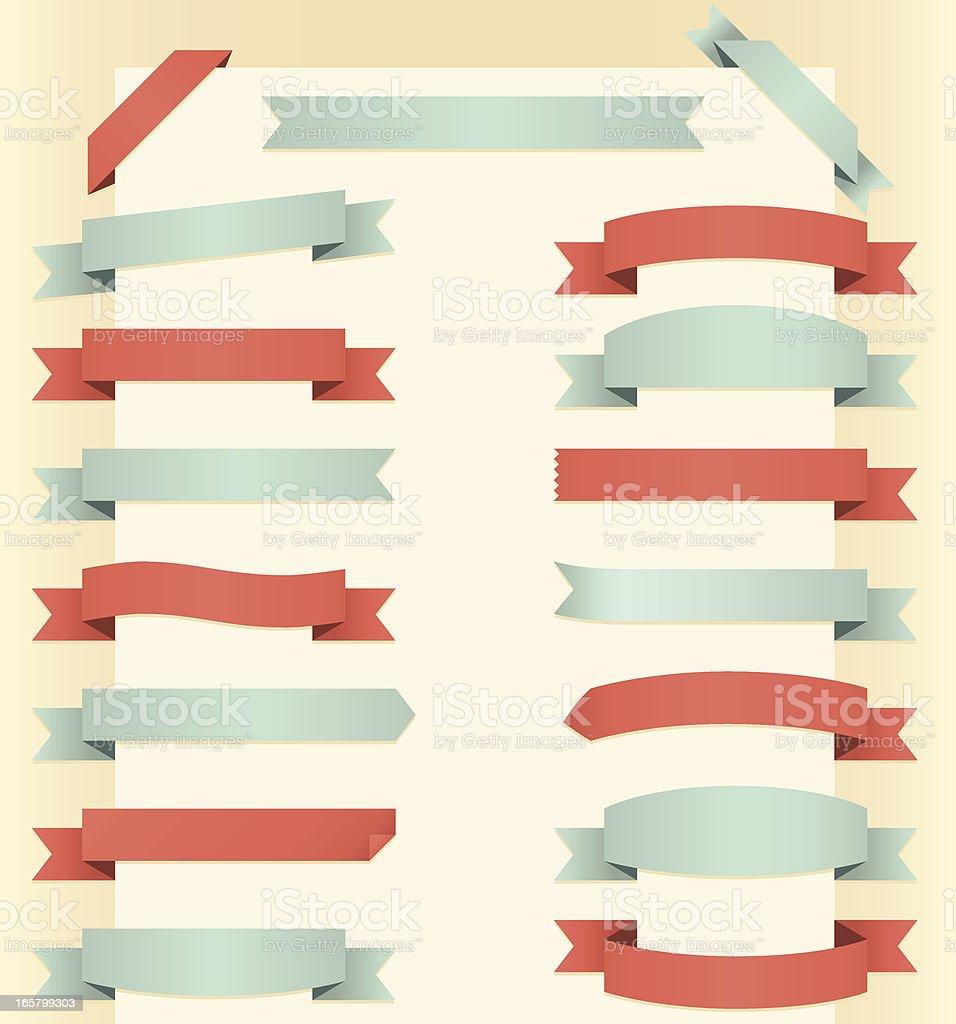 Vintage Banners vector art illustration