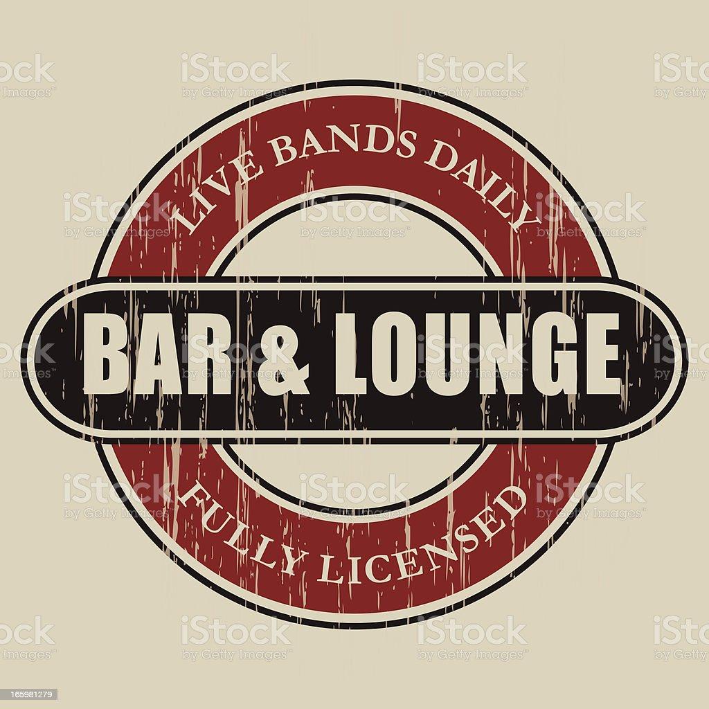 Vintage Bar & Lounge Label vector art illustration