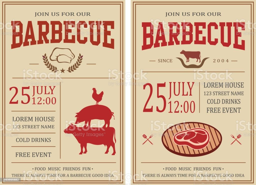 Picnic Flyer Template Hot Dog Bbq Picnic Event Poster Picnic