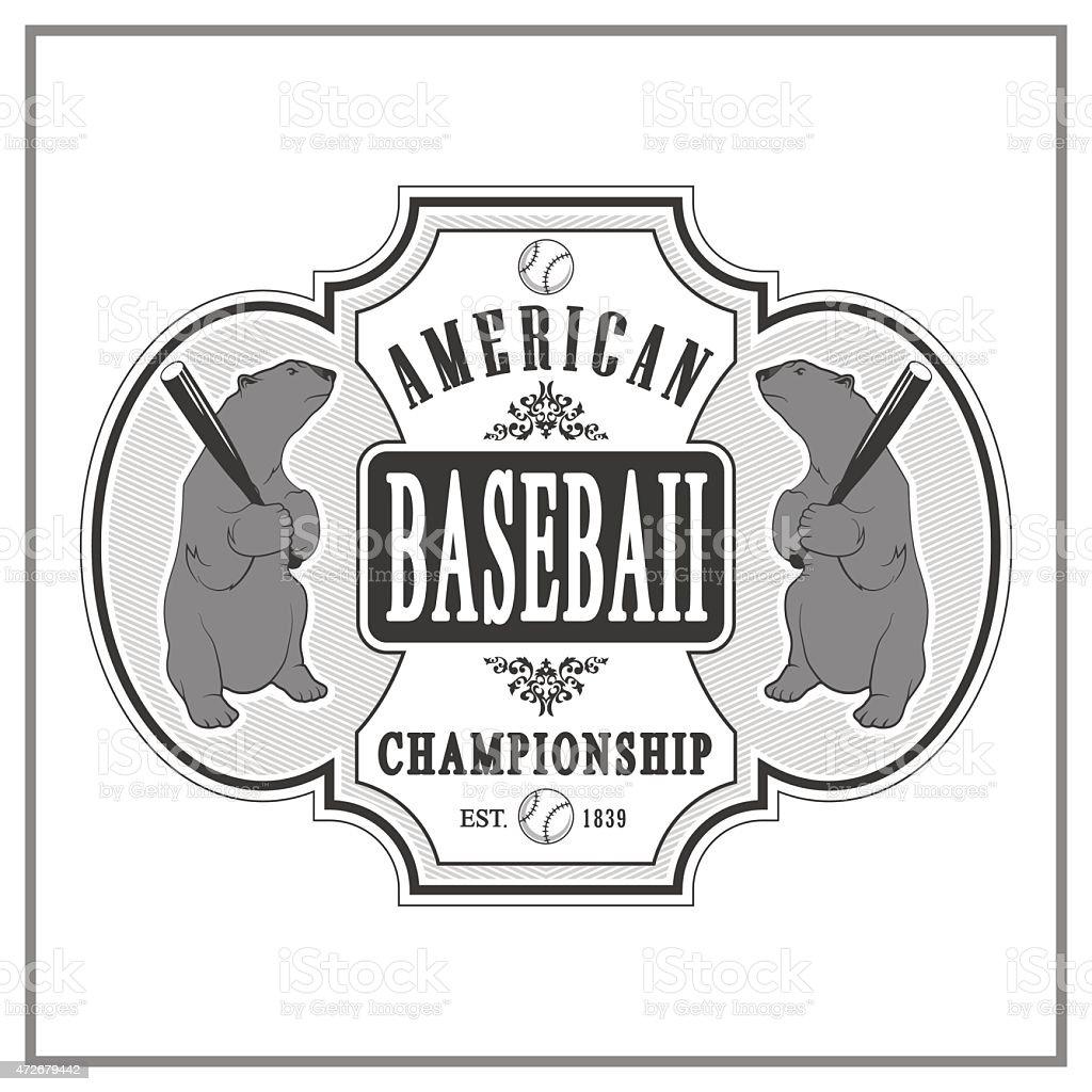 vintage baseball labels vector art illustration