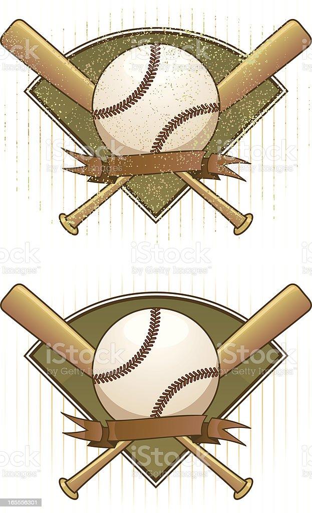 vintage baseball royalty-free stock vector art