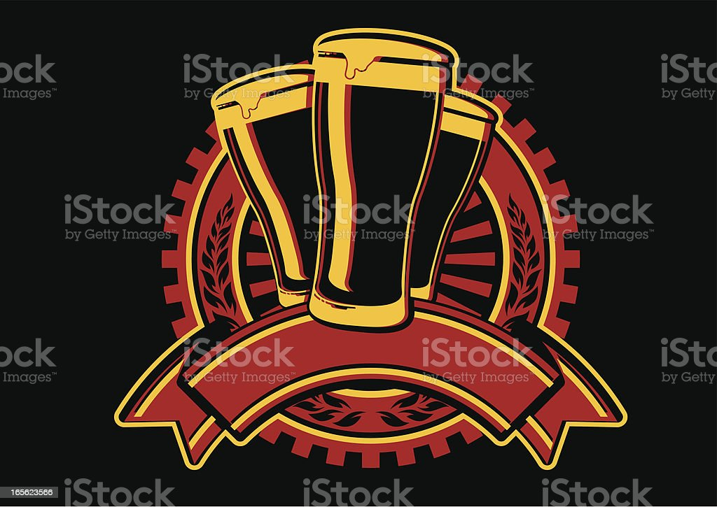 vintage beer insignia royalty-free stock vector art
