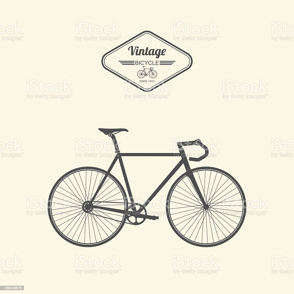 Vintage bicycle.vector vector art illustration