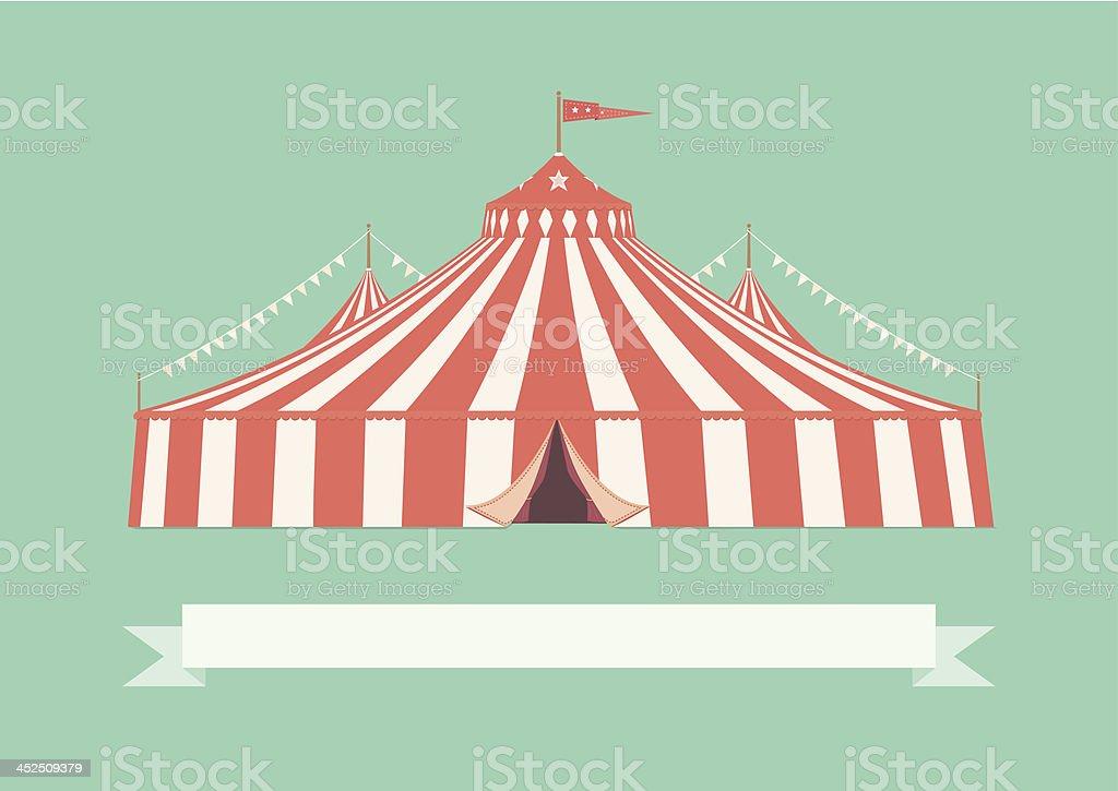 Vintage Big Top Circus Tent vector art illustration