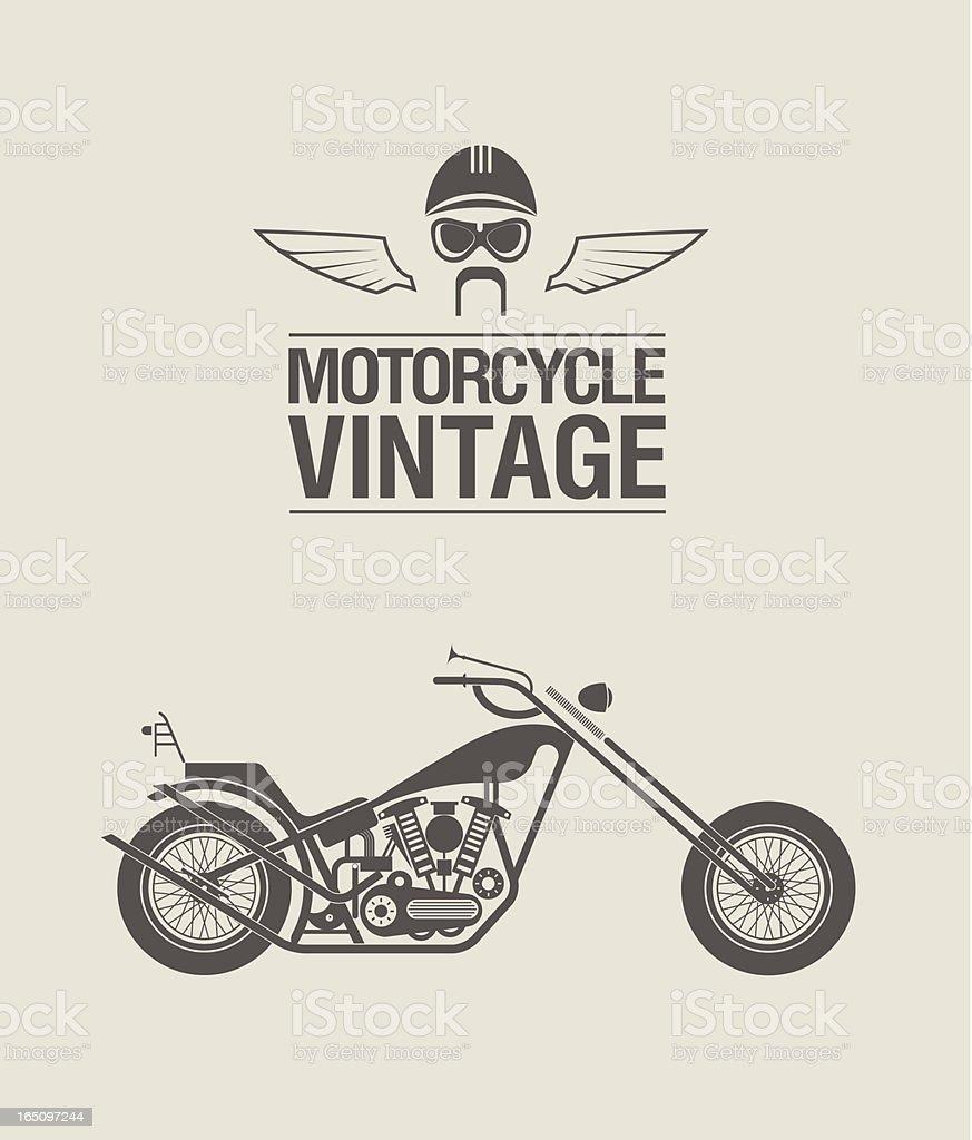 Vintage bike royalty-free stock vector art