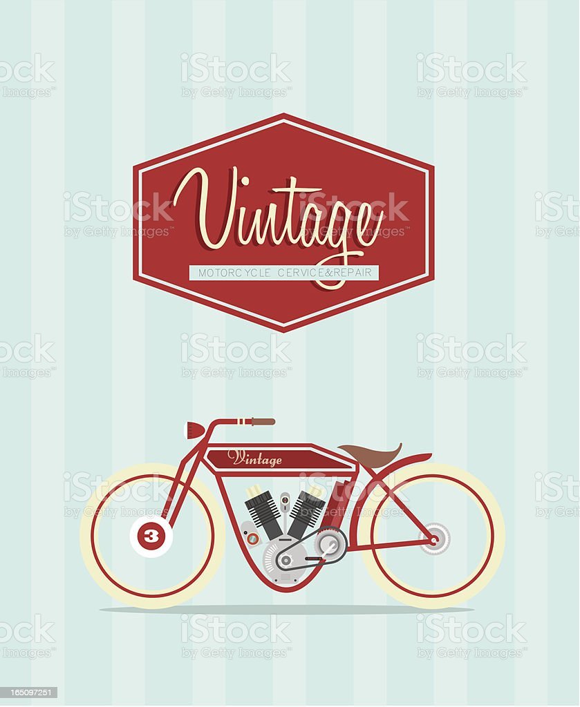 Vintage bike royalty-free stock vector art