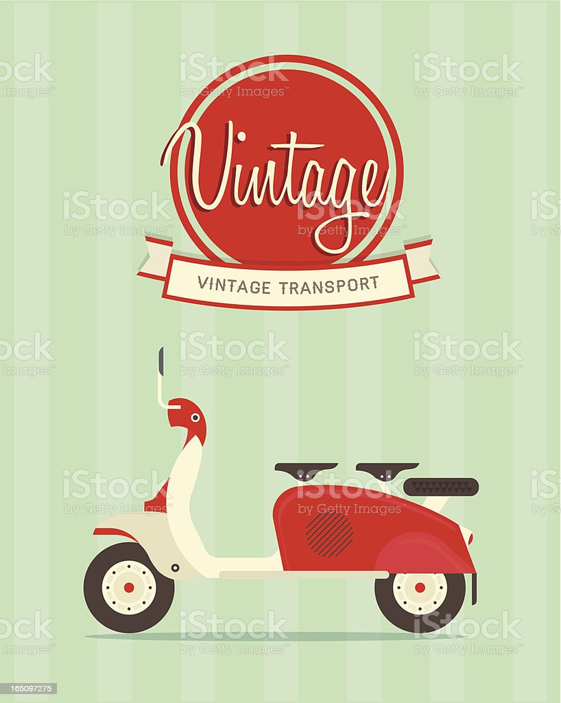 Vintage bike vector art illustration