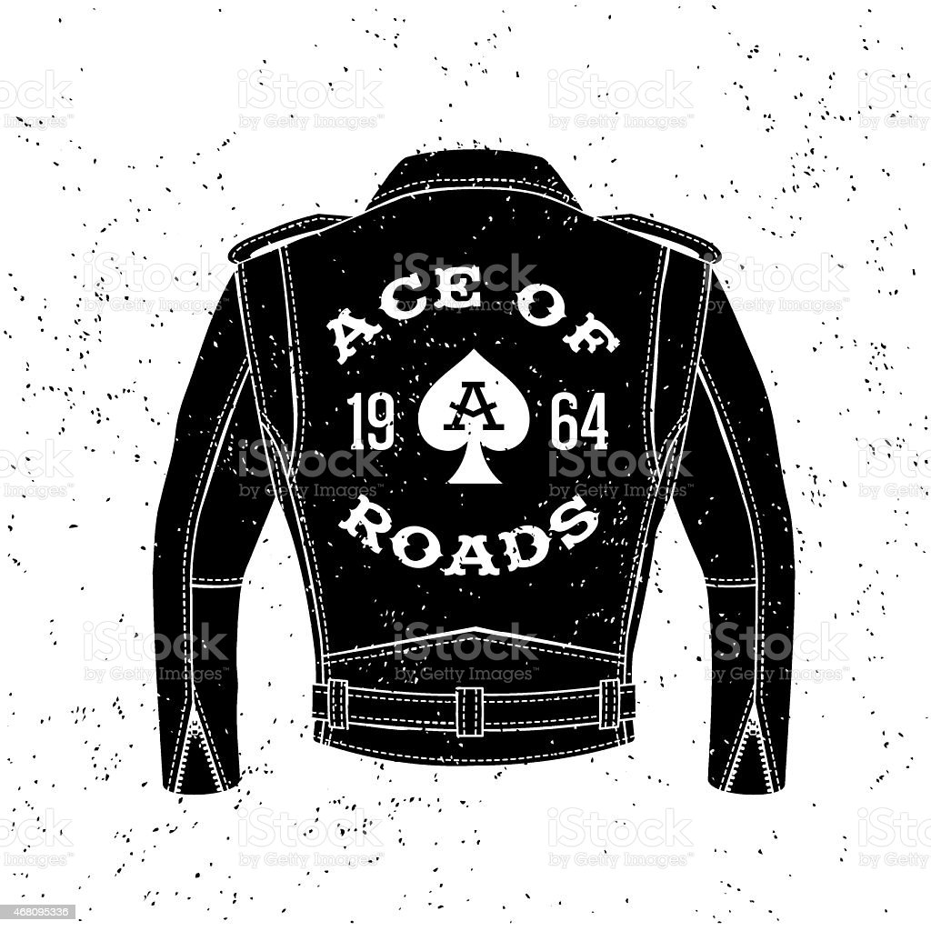 vintage biker logo vector art illustration