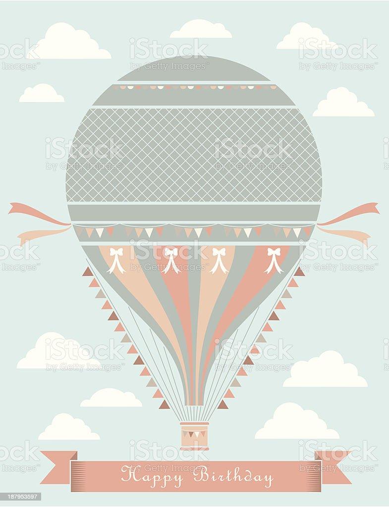 Vintage Birthday Balloon royalty-free stock vector art