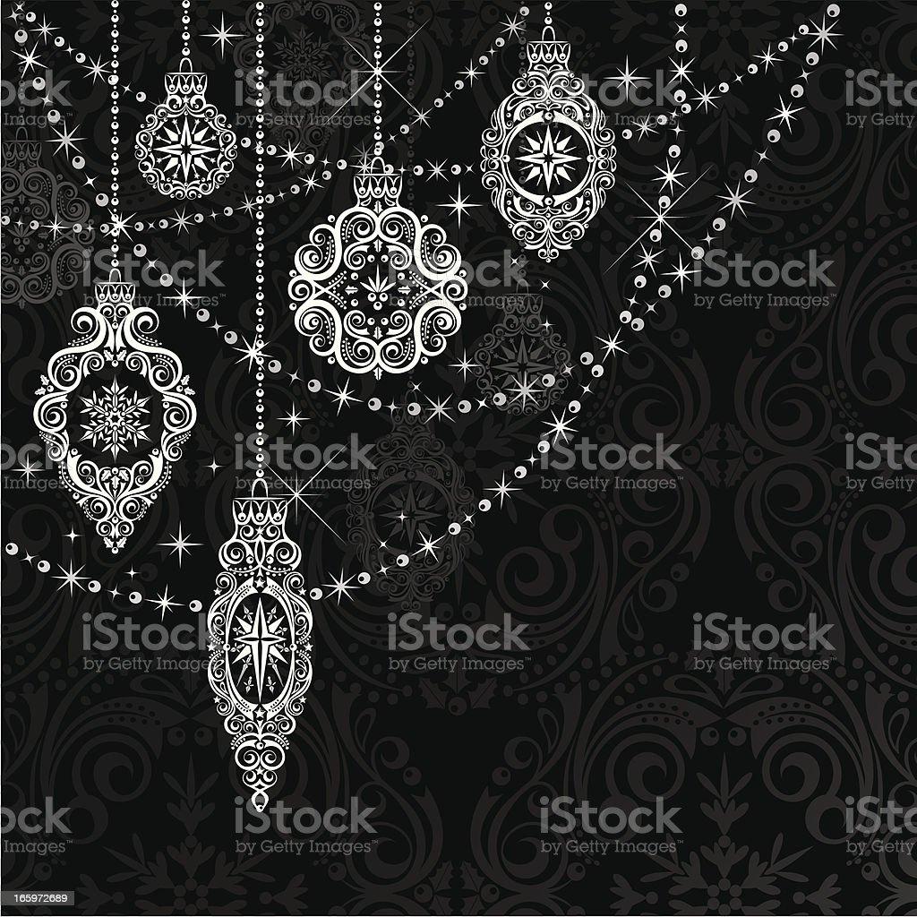 Vintage Black & White Ornaments vector art illustration
