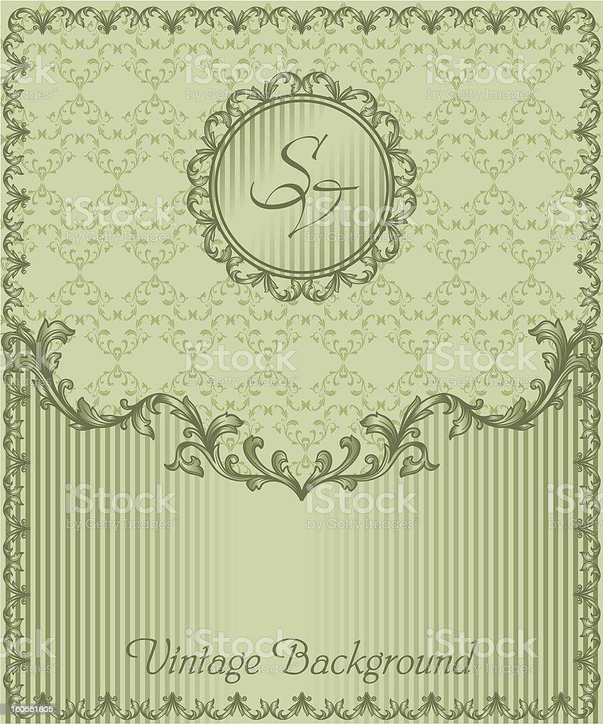 vintage blank andseamless pattern royalty-free stock vector art