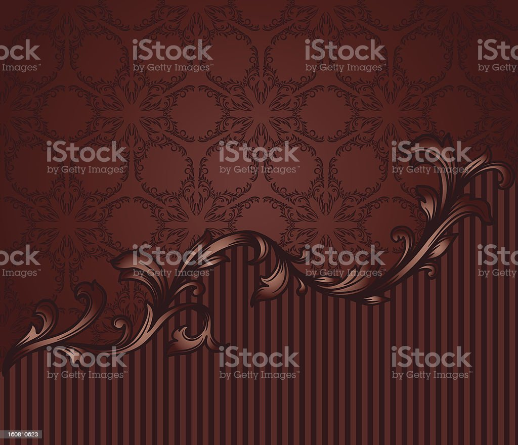 vintage blank andseamless pattern royalty-free stock vector art