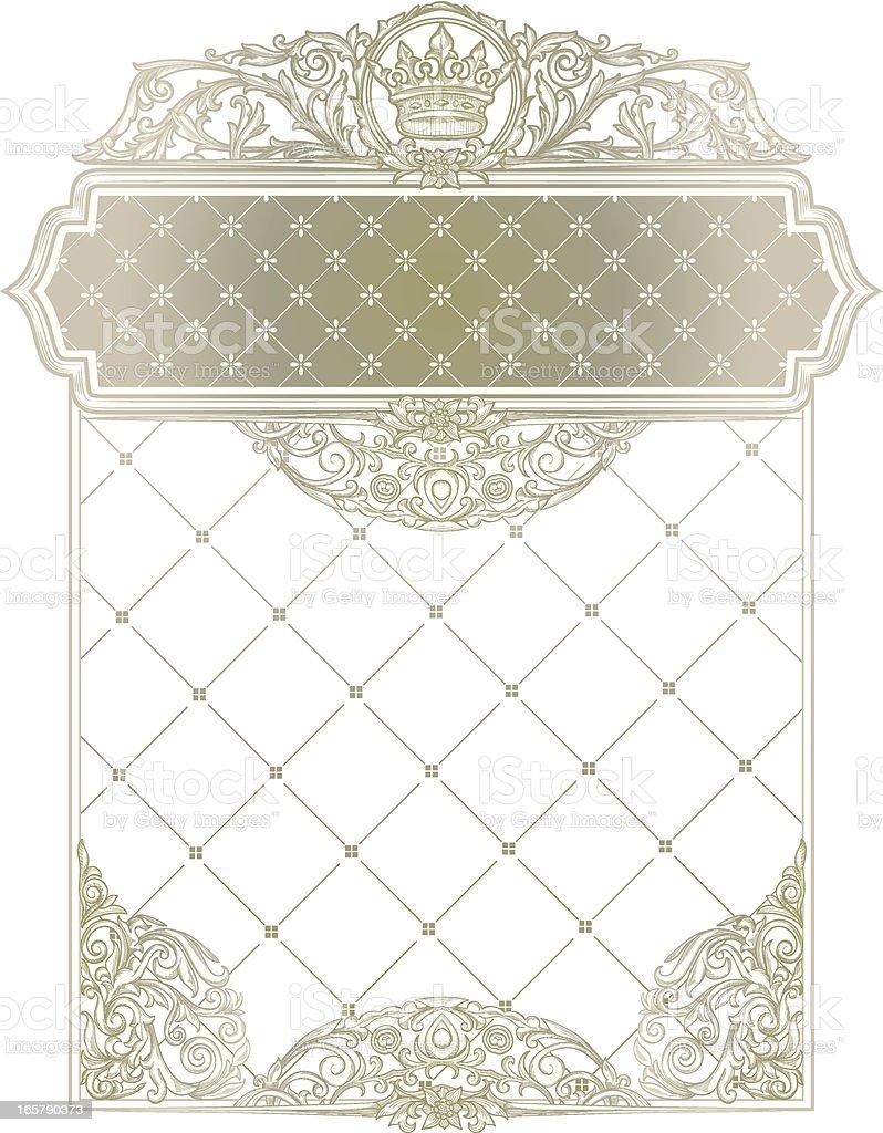 Vintage blank royalty-free stock vector art