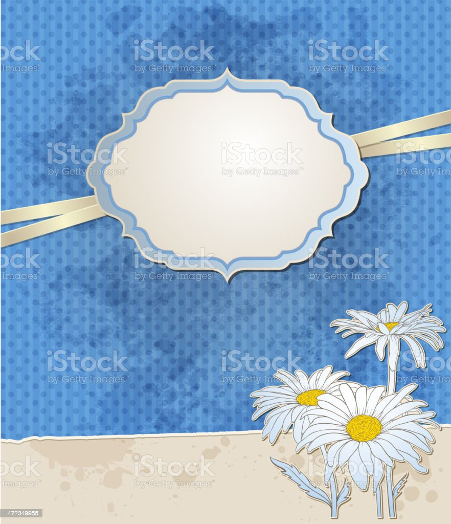 Vintage blue vector background royalty-free stock vector art