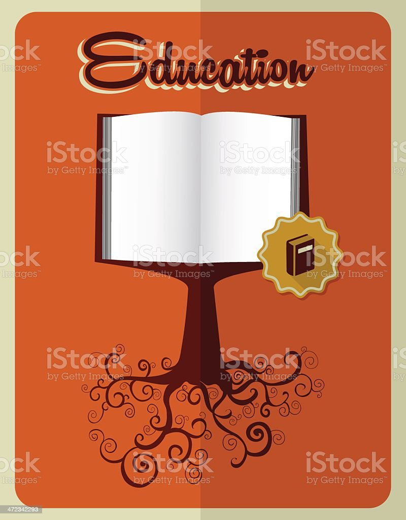 Vintage Book tree royalty-free stock vector art