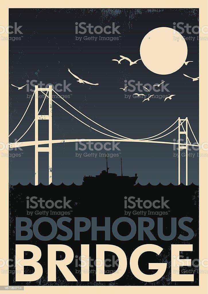 Vintage Bopshorus Poster royalty-free stock vector art
