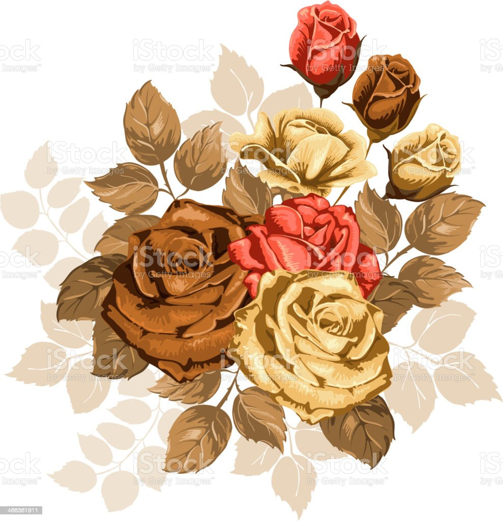 Vintage bouquet royalty-free stock vector art