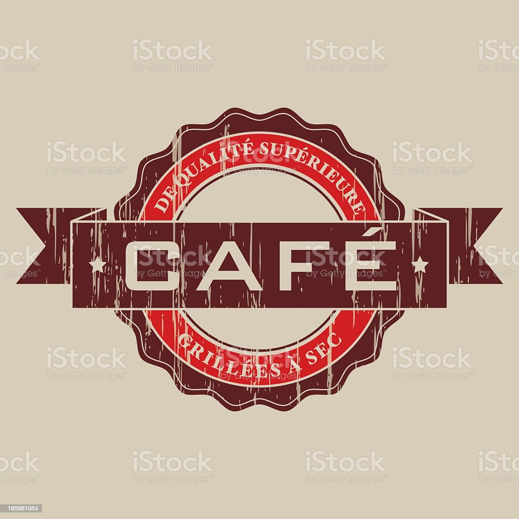 Vintage Caf? Label (French) royalty-free stock vector art