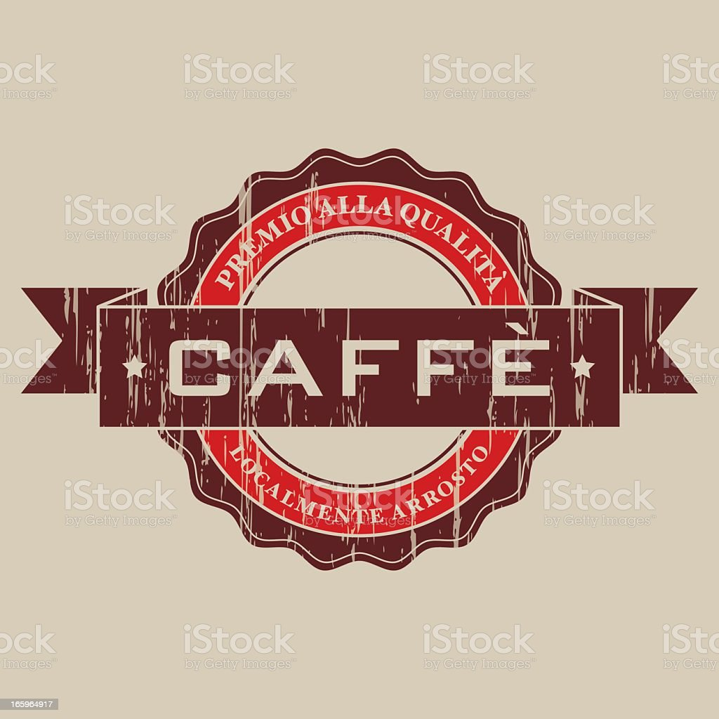 Vintage Caf? Label (Italian) royalty-free stock vector art